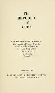 Cover of: The Republic of Cuba by Bankers' Loan and Securities Company, New Orleans.