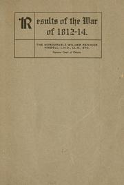 Cover of: Results of the war of 1812-14. | William Renwick Riddell