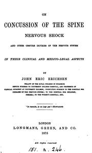 Cover of: On concussion of the spine, nervous shock, and other obscure injuries of the nervous system
