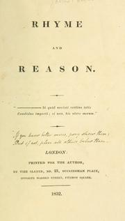 Cover of: Rhyme and reason