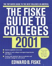 Cover of: The Fiske Guide to Colleges 2001 (Fiske Guide to Colleges)