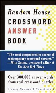 Cover of: Random House Crossword Answer Book (RH Crosswords) | Stanley Newman