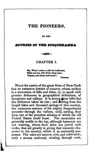 Cover of: The Pioneers, Or, The Sources of the Susquehanna: A Descriptive Tale