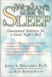Cover of: A woman's guide to sleep |