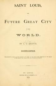 Cover of: Saint Louis: the future great city of the world