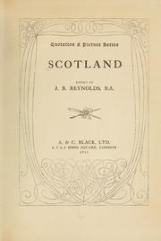Cover of: Scot land | Joan Berenice Reynolds