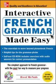 Cover of: Interactive French Grammar Made Easy w/CD-ROM (Grammar Made Easy) | Rosi McNab