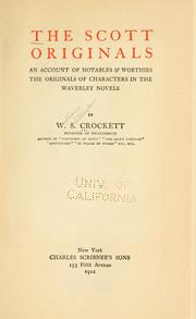 Cover of: The Scott originals | W. S. (William Shillinglaw) Crockett