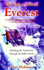 Cover of: The Other Side of Everest | Matt Dickinson