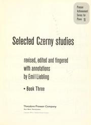 Cover of: Selected Czerny studies