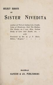 Cover of: Select essays of Sister Nivedita