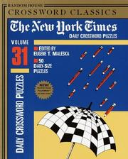 Cover of: New York Times Daily Crossword Puzzles, Volume 31 | Eugene Maleska