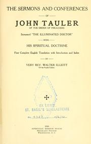 Cover of: The sermons and conferences of John Tauler ..