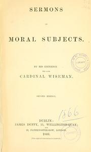 Cover of: Sermons on moral subjects