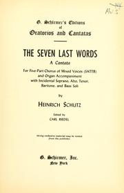 Cover of: The Seven Last Words