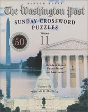 Cover of: The Washington Post Sunday Crossword Puzzles, Vol. 11