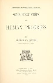 Some first steps in human progress by Starr, Frederick