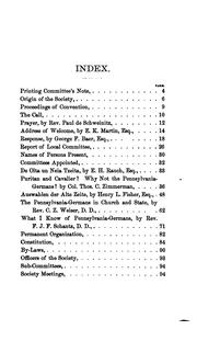 Proceedings and Addresses by Pennsylvania German Society