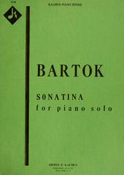Cover of: Sonatina