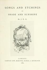 Cover of: Songs and etchings in shade and sunshine |