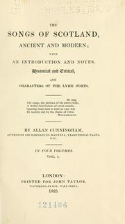 Cover of: The songs of Scotland