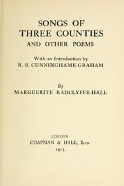Cover of: Songs of three counties