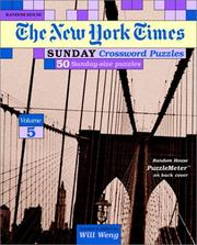 Cover of: New York Times Sunday Crossword Puzzles, Volume 5 |