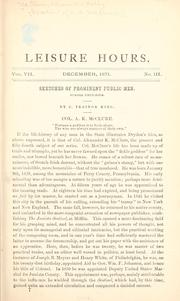 Cover of: [Speeches of A.K. McClure