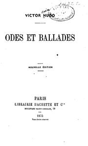 Cover of: Odes et ballades by Victor Hugo