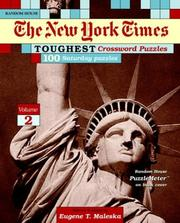 Cover of: New York Times Toughest Crossword Puzzles, Volume 2 | Eugene Maleska