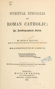 Cover of: Spiritual struggles of a Roman Catholic