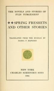Cover of: Spring freshets: and other stories