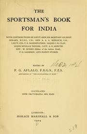 Cover of: The sportsman's book for India