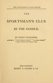 Cover of: The sportsman's club: in the saddle