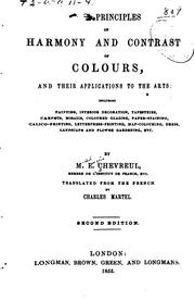 Cover of: The Principles of Harmony and Contrast of Colours, and Their Applications to ...