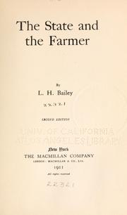 Cover of: The state and farmer