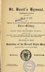Cover of: St. Basil's hymnal | compiled from approved sources.