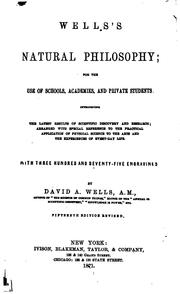 Cover of: Natural Philosophy: For the Use of School, Academies and Private Students. Introducing the ..