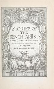 Cover of: Stories of the French artists by Percy Moore Turner