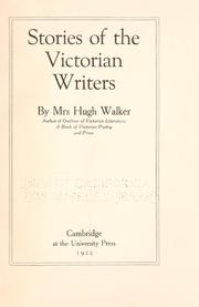 Cover of: Stories of the Victorian writers