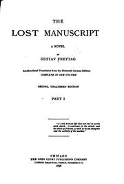 Cover of: The Lost Manuscript: A Novel