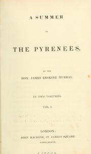 Cover of: summer in the Pyrenees | James Erskine Murray