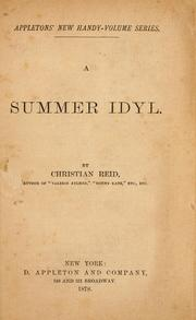 Cover of: A summer idyl
