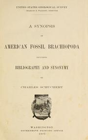 Cover of: A synopsis of American fossil Brachiopoda