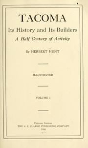 Cover of: Tacoma | Herbert Hunt