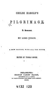 Cover of: Childe Harold's Pilgrimage: A Romaunt