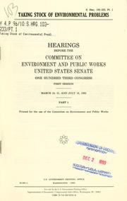 Cover of: Taking stock of environmental problems | United States. Congress. Senate. Committee on Environment and Public Works.