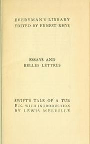 Cover of: A tale of a tub, and other satires
