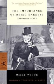Cover of: The Importance of Being Earnest and Other Plays
