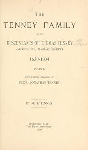 Cover of: The Tenney family